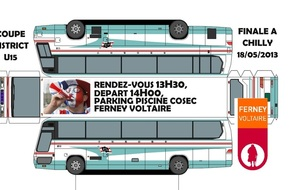 Un BUS pour les supporters ASSGFC , finale Coupe District U15 le 18 Mai à Chilly